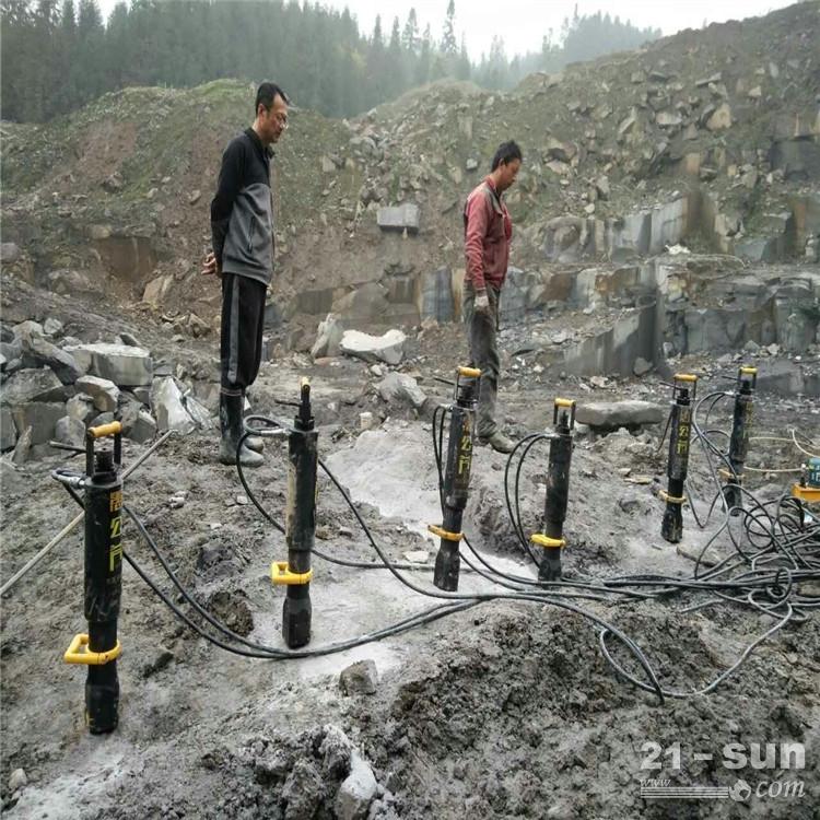 辽宁凌海市炮锤打不动花岗岩开采设备