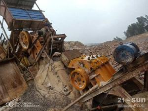 二手47颚式破碎机制砂机整套砂石料生产线设备低价处理