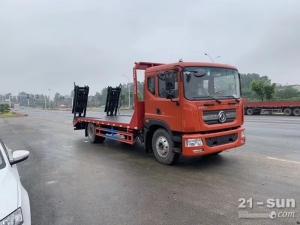 东风D9单桥挖机平板运输车