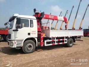 陕汽德龙长兴8吨随车起重运输车