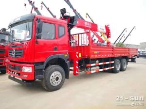 东风t5后八轮长兴12吨随车起重运输车
