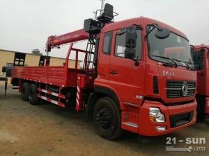 东风天龙三一12吨随车起重运输车