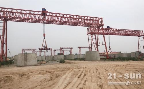 四川遂宁50吨龙门吊出租设备由厂家提供