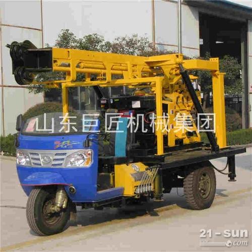 供应三轮车载液压岩芯钻机巨匠集团公路勘探钻机低价