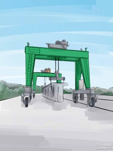 江苏常州龙门吊租赁80吨梁场提梁机