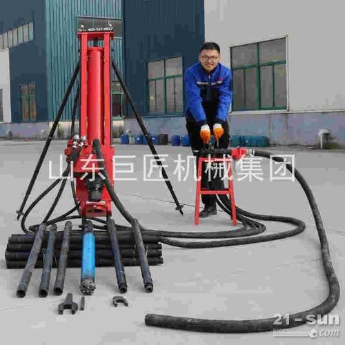 巨匠集团KQZ-100全气动潜孔钻机野外施工30米支护钻机