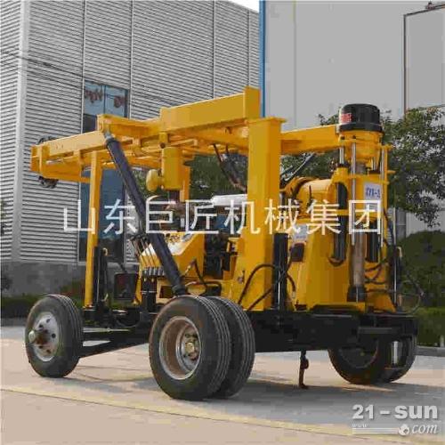巨匠集团供应XYX-3轮式液压水井钻机 深井打井机直销