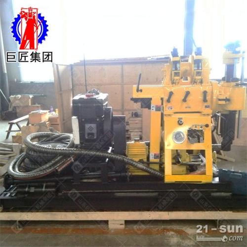 勘探钻机 200米地质钻机 轮式岩芯钻机华夏巨匠XYX-200