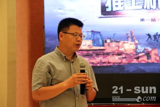 卡特彼勒(青州)有限公司推土机产品应用专家闫成军