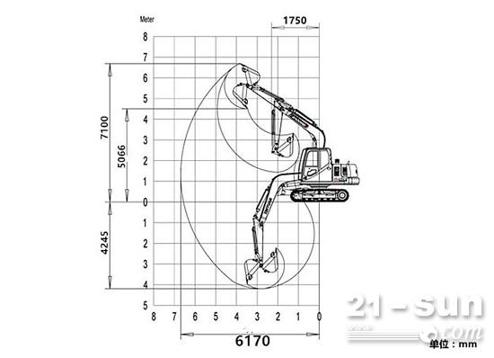 宝鼎80挖掘机参数图