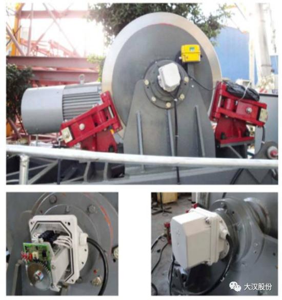 起升机构采用智能双液压制动钳装置