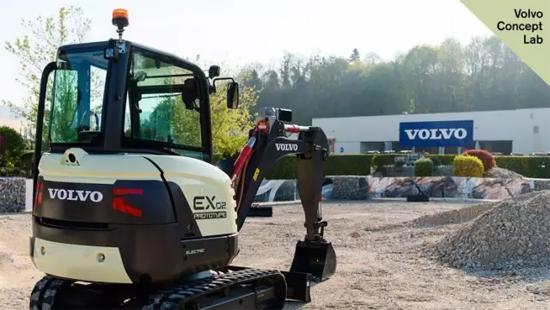 沃尔沃建筑设备EX2纯电动概念挖掘机(欧洲)