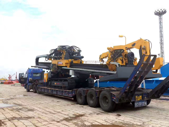 徐工大吨位水平定向钻XZ6600出口印度