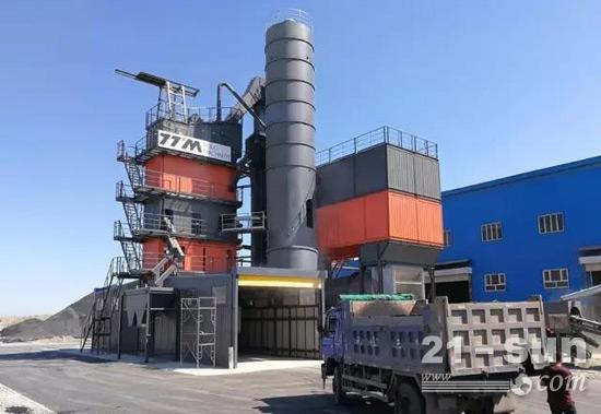 铁拓机械4000环保型沥青搅拌设备入驻新疆乌鲁木齐