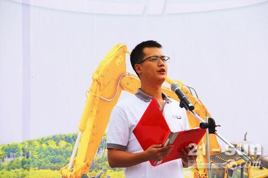 开远市临工机械设备有限公司总经理沈仁洪致辞