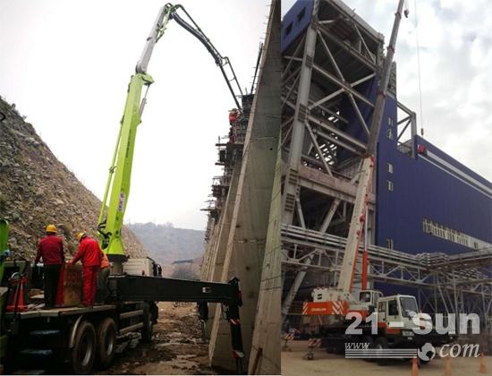 中联重科设备助建卡西姆2*660MW燃煤电站&泵车参与葛洲坝NJ水电站项目