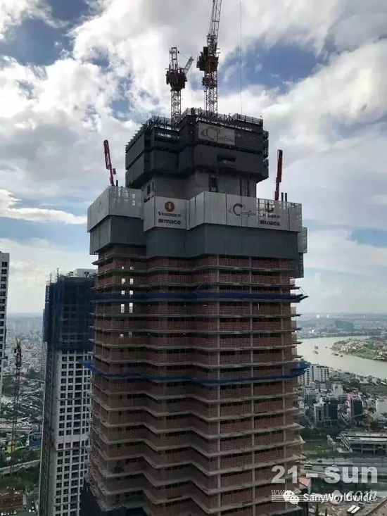 帅出天际的东南亚第一高楼 全由三一设备浇筑而成