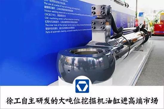徐工自主研发的大吨位挖掘机油缸