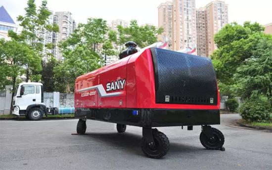全球首台三一超高压消防泵!