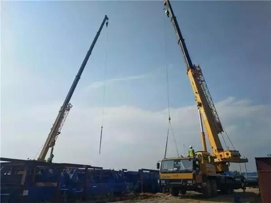 印尼苏门答腊岛最大的发电厂,徐工起重机联合吊装钢结构