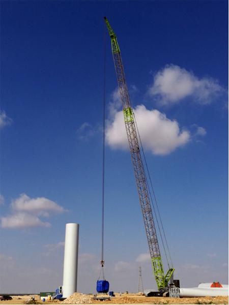 QUY650起重机在风电项目现场施工