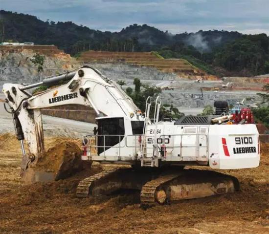 利勃海尔R9100矿用挖掘机工作报告