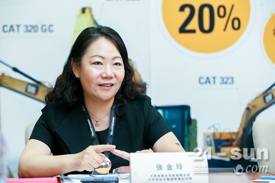 卡特彼勒全球基础建设部,大中华区及韩国销售总经理张金玲