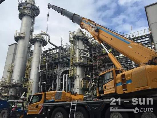 徐工XCA100_E自动工况规划,拆除罐体—德国Chempark Marl