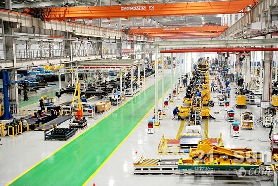 柳州柳工挖掘机公司新总装生产线