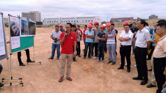 泉州台商区领导莅临华南重工溪东生产基地调研