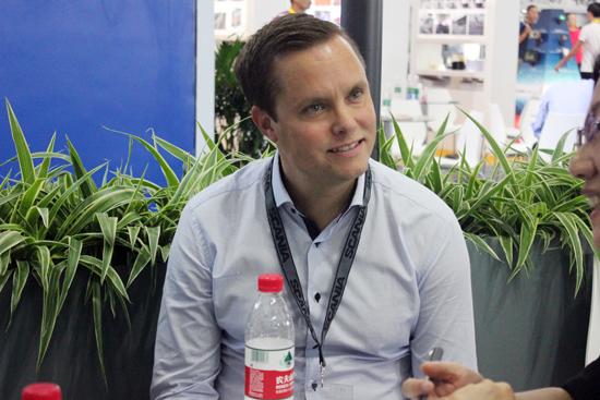21-sun编辑对话斯堪尼亚发动机销售与市场区域经理Johan Thell