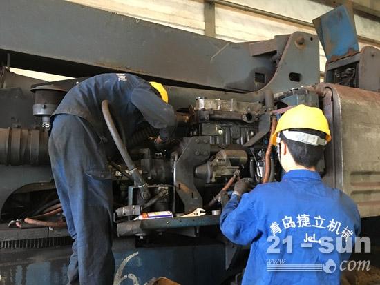 青岛捷立机械售后服务团队常驻船厂