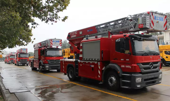 徐工紧凑型消防车首次批量交付北京消防部队