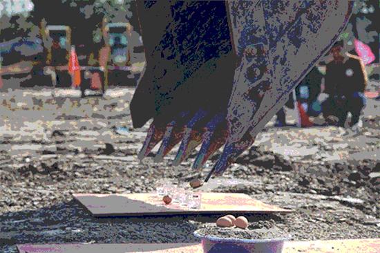 挖掘机沙盘移珠