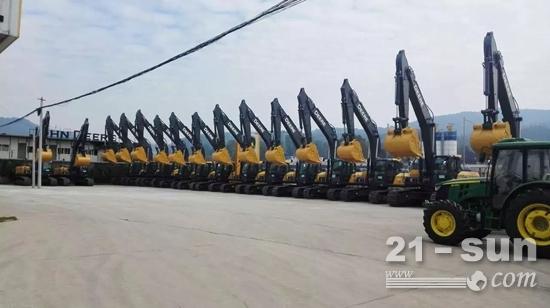 约翰迪尔经销商-云南旷迪机械设备有限公司的样机库存