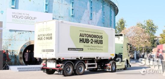 沃尔沃全自动驾驶概念卡车现场演示