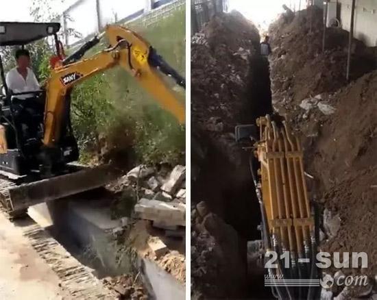 挖管道、挖排水沟