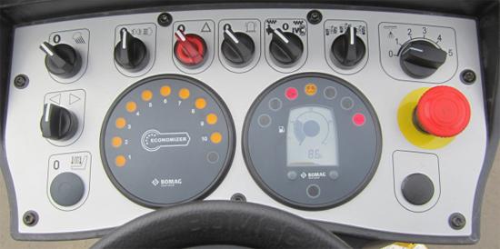 集成在控制台上的ECONOMIZER显示盘