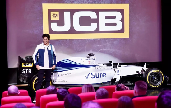 F1威廉姆斯车队车手兰斯·斯克勒(Lance Stroll)参观JCB