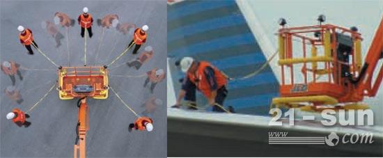 1飞机维修人员使用了捷尔杰防坠落平台,在飞机表面进行维修作业.jpg