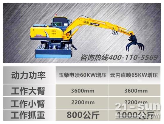 宝鼎95多功能轮式挖掘机抓木机主要参数.jpg