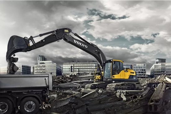 沃尔沃EC220D:性能与效率兼备,燃油效率达到最高