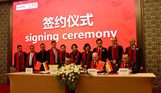 浙江中力机械与凯傲集团达成战略合作伙伴关系