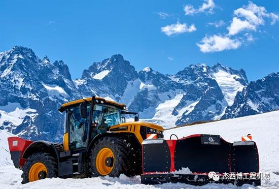 清雪利器 JCB Fastract拖拉机在阿尔卑斯山大显神威