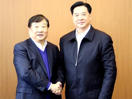 山东重工集团党委书记、董事长谭旭光一行访问吉林大学