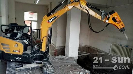 楼房地下室挖掘的工作中也十分便利