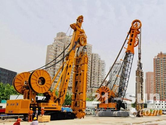 2017年5月上海徐家汇中心工程开工前夕