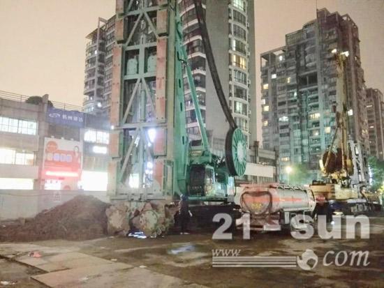 2018年4月杭州地铁5号线宝善路站工地