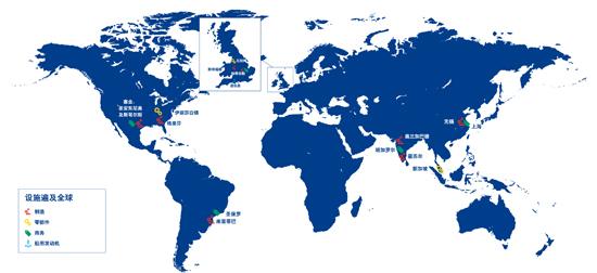 Perkins在全球四大洲设有生产基地