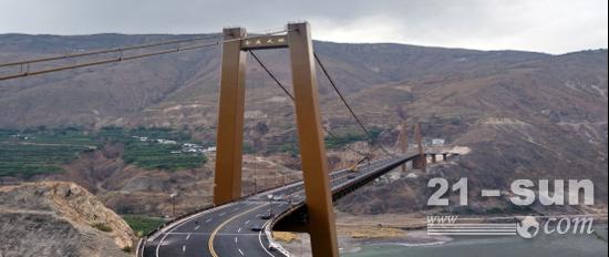 欧维姆公司参建的金沙江跨度最大的悬索桥——金东大桥建成通车